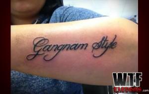 tatuagem gangnam style