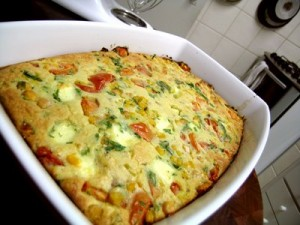 torta de legumes pronta