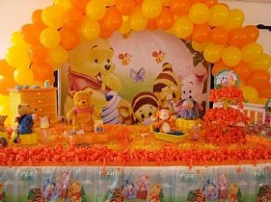 Decoração de Festa de Aniversário de 1º ano Tema Pooh Baby – Fotos, Modelos e Dicas  baby 300x224