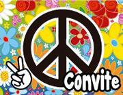 Aniversário Com Tema Hippie – Decoração, Fotos e Vídeo convite festa hippie