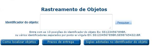 Rastrear_Objetos_Correios