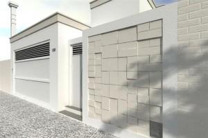 fachada com pedra
