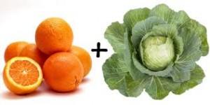 couve e laranja