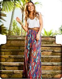 Saias Longas com Estampas para o Verão 2013 – Modelos e Onde Comprar