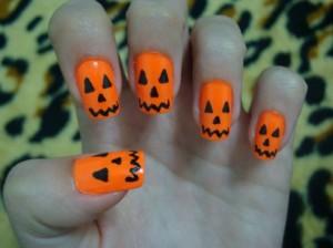 unhas de haloween