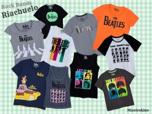 Camisetas Rock Bands na Riachuelo 2013
