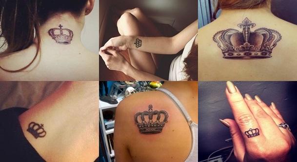 Tatuagens de Coroas Femininas   Modelos de Tatuagem, Significado coroa