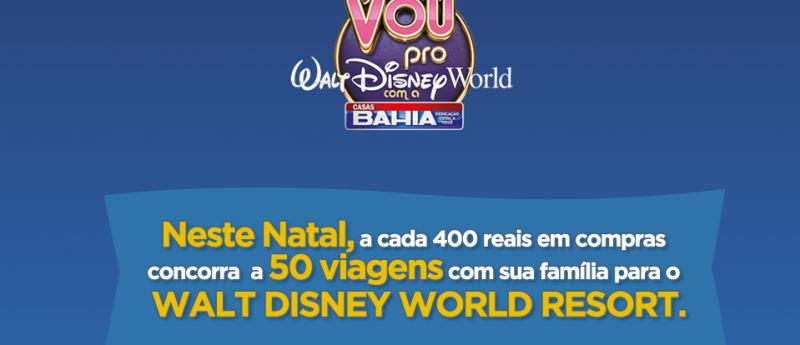 """Promoção Casas Bahia """"Vou Pro Walt Disney World Com a Casas Bahia""""   Participar promo disney 800x345"""