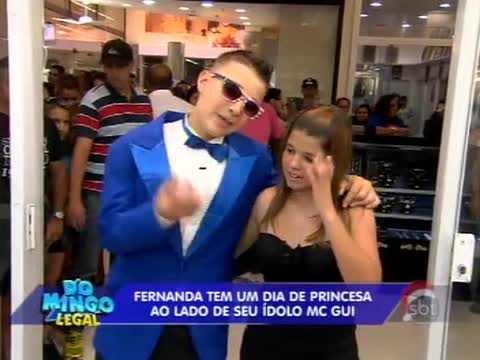 "Quadro ""A Princesa e o Plebeu"" Domingo Legal Com MC GUI   Como Se Inscrever, Participar mc gui dia de princesa"