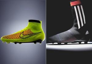 Lançamento de Chuteiras Cano Alto Nike e Adidas 2014 –
